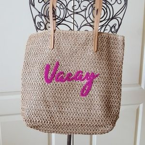 Wicker Vacation Tote
